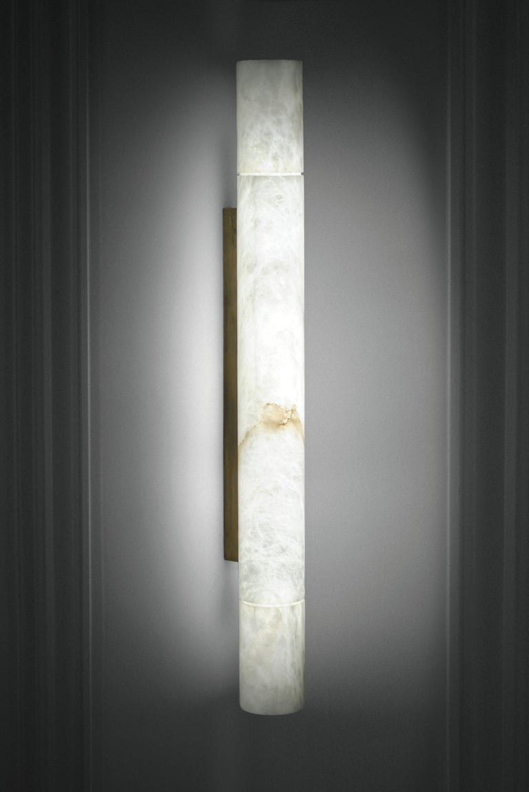 Alabaster Sumatra Pendant Light by Atelier Alain Ellouz For Sale 2