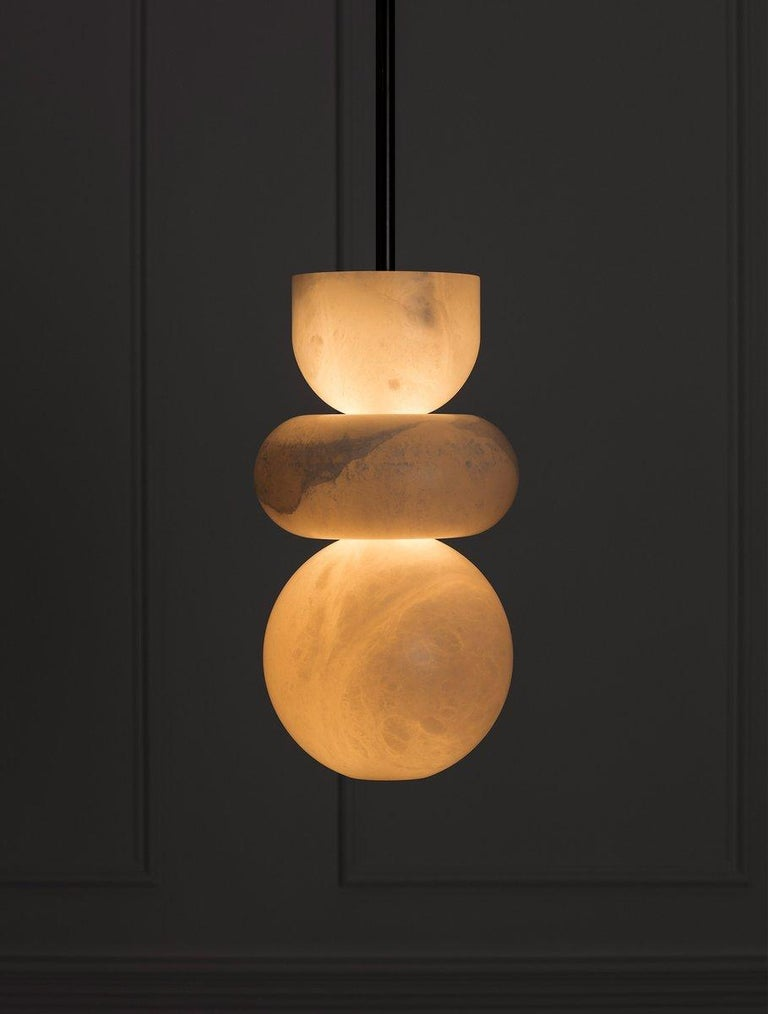 Inspired by the beauty of an ancient material, the Alabaster collection aims to showcase the magical translucency of this precious stone. Light flows into Alabaster shapes creating an ethereal glow.