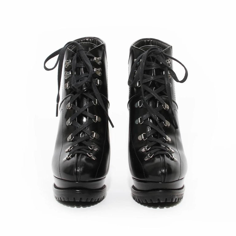 Black Alaia 130 Ankle Boot For Sale