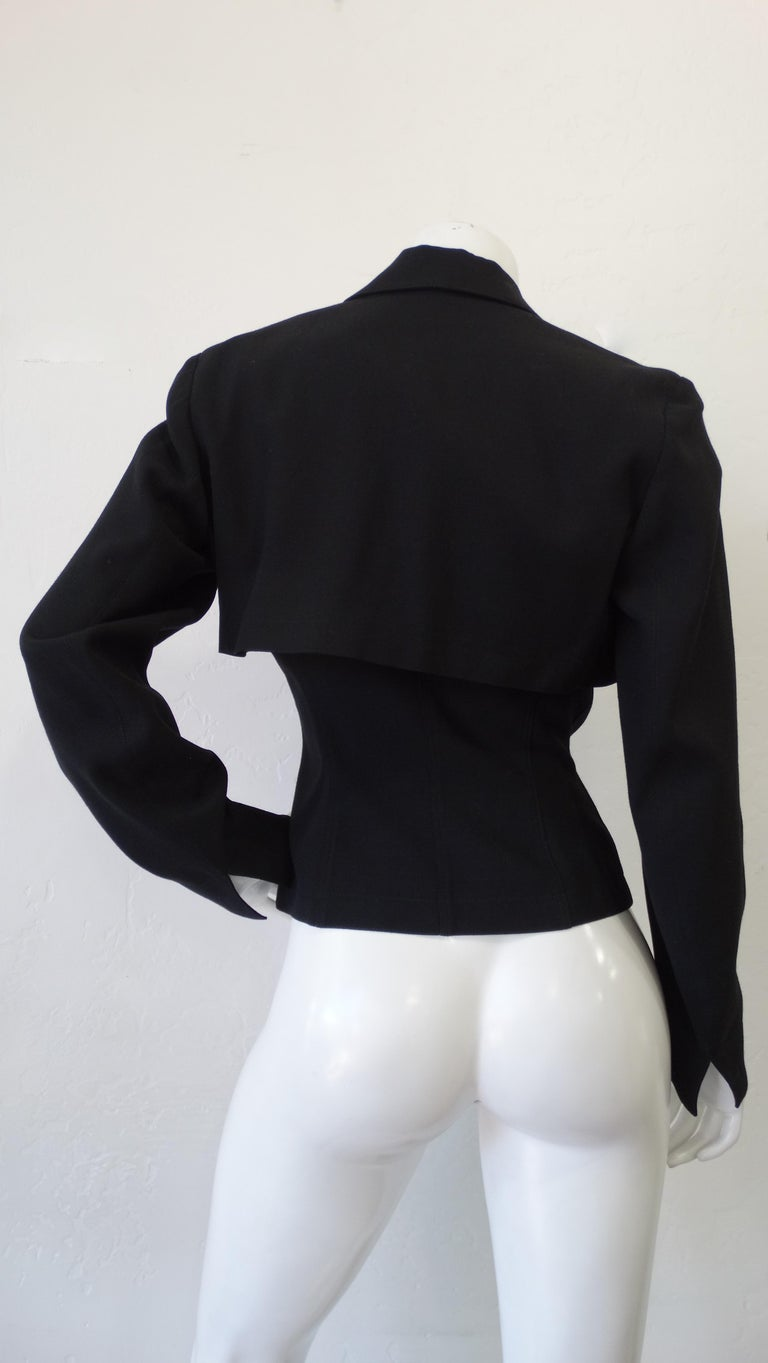 Women's or Men's Alaia 1980s Double Breasted Wool Blazer  For Sale