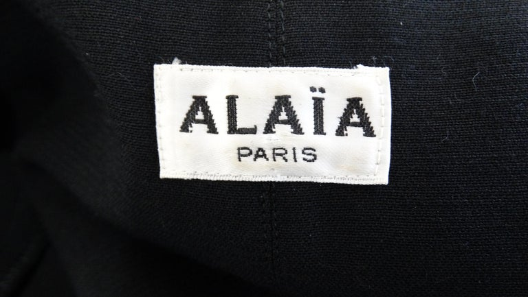 Alaia 1980s Double Breasted Wool Blazer  For Sale 2