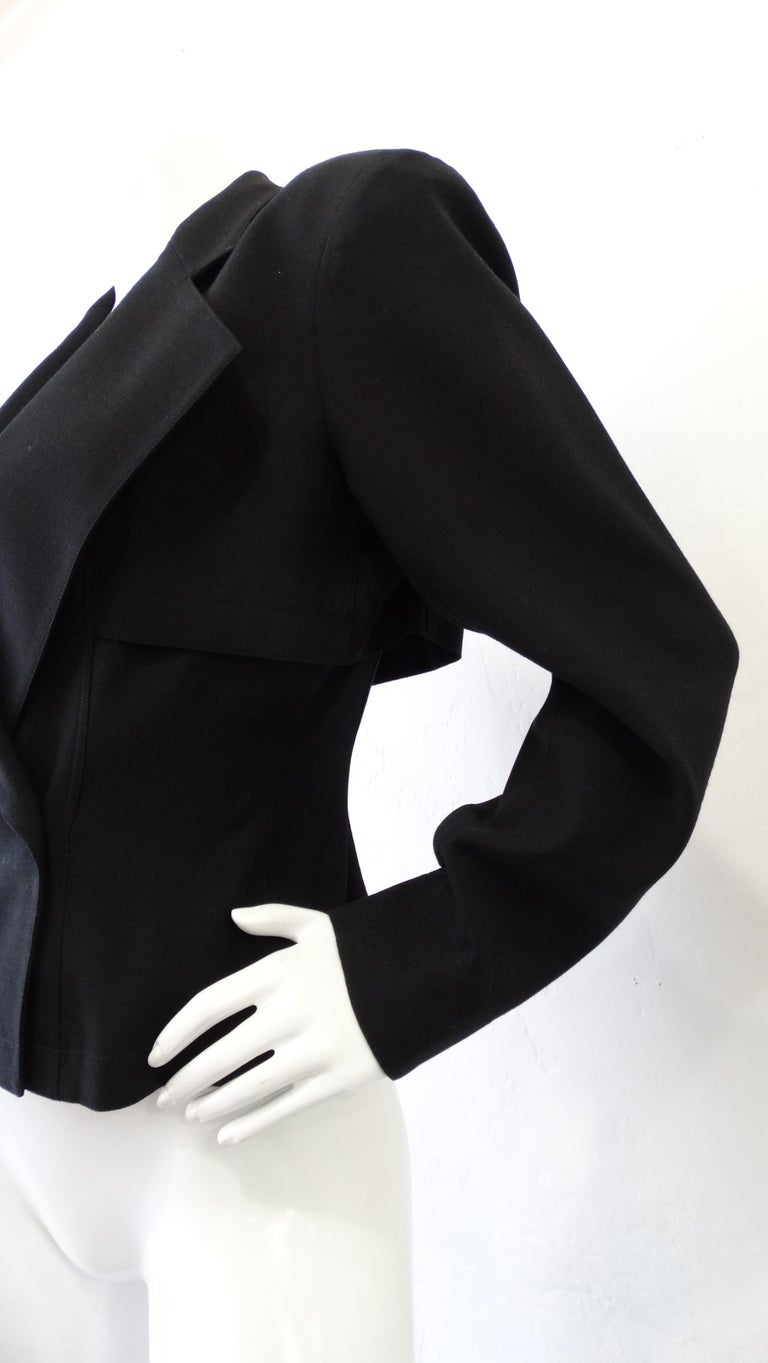 Alaia 1980s Double Breasted Wool Blazer  For Sale 3