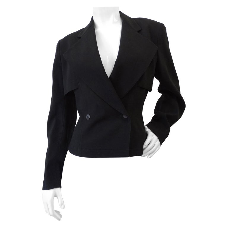 Alaia 1980s Double Breasted Wool Blazer  For Sale