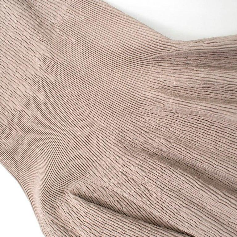 Alaia Beige Stretch Knit Dress US 6 For Sale 2