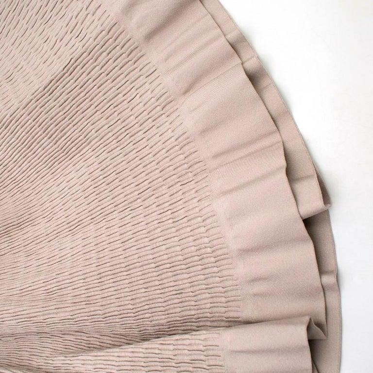 Alaia Beige Stretch Knit Dress US 6 For Sale 3