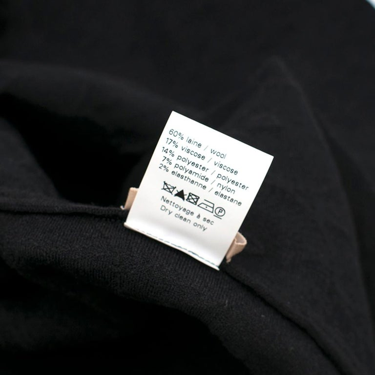 Alaia Black Jacquard-knit Scalloped Wool Mini Dress36 For Sale 5