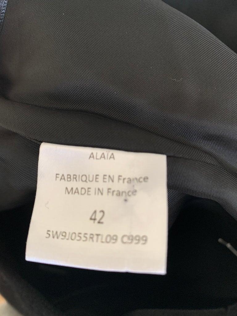 Women's ALAIA Black Knee Length Skirt  For Sale