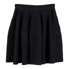 Alaia Black Knit Skater Skirt S 40