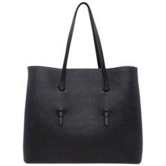 Alaia Black Leather Mina 32 Shoulder Bag