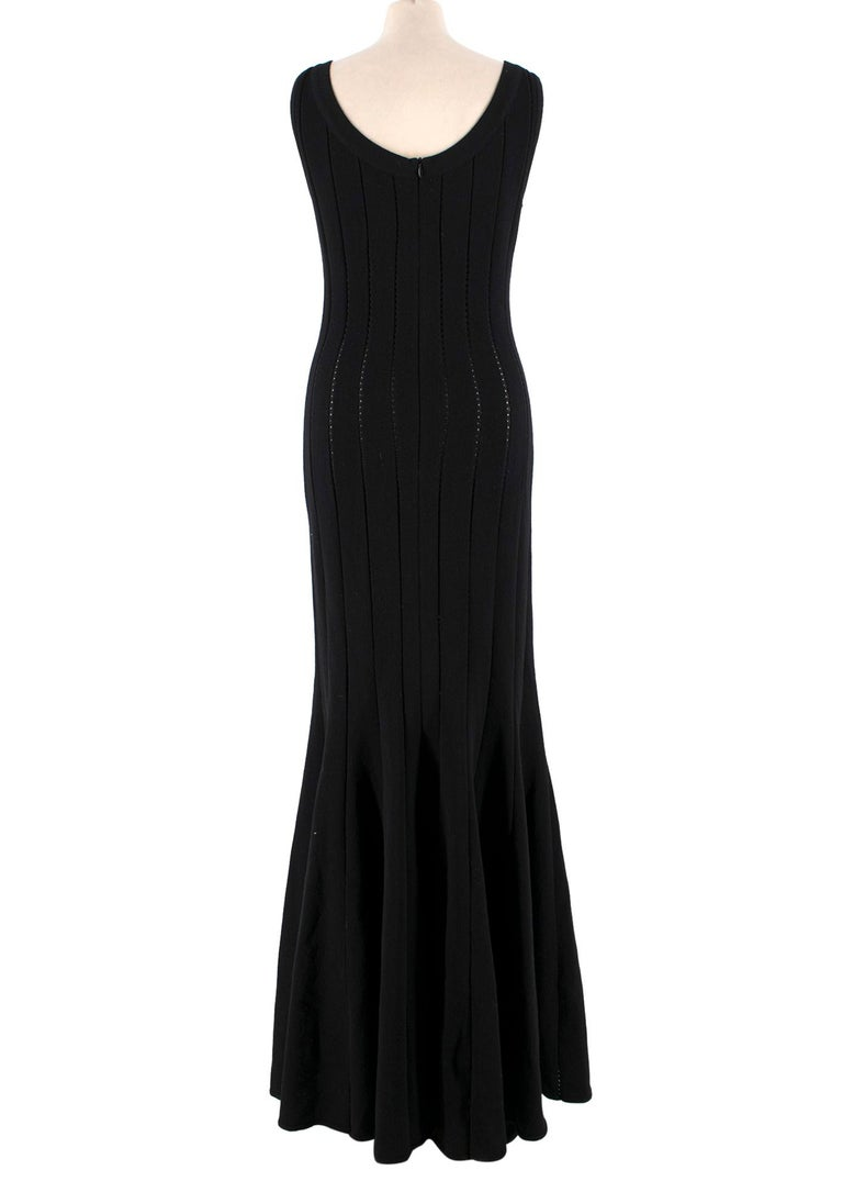 Alaia Black Maxi Fishtail Dress US 6 In Excellent Condition For Sale In London, GB