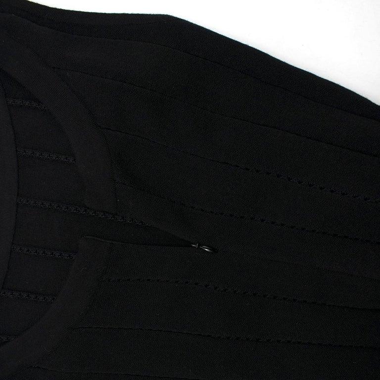 Women's Alaia Black Maxi Fishtail Dress US 6 For Sale