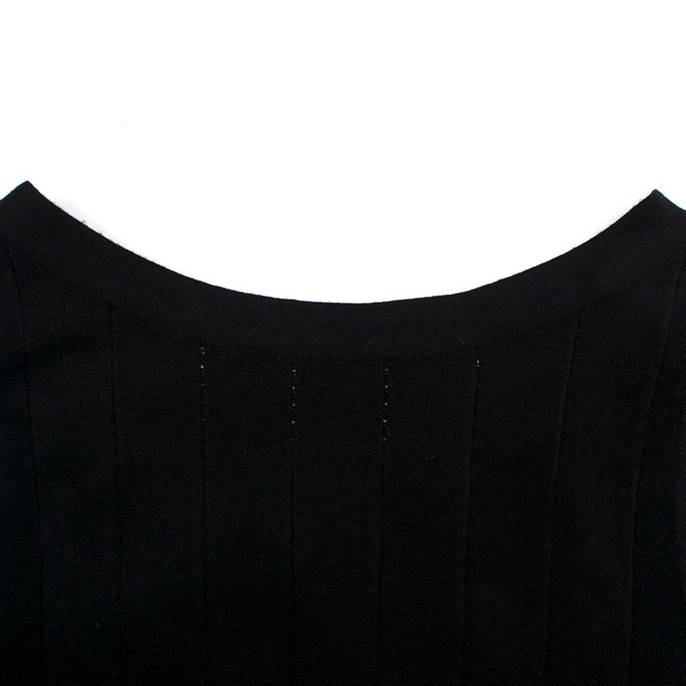 Alaia Black Maxi Fishtail Dress US 6 For Sale 1