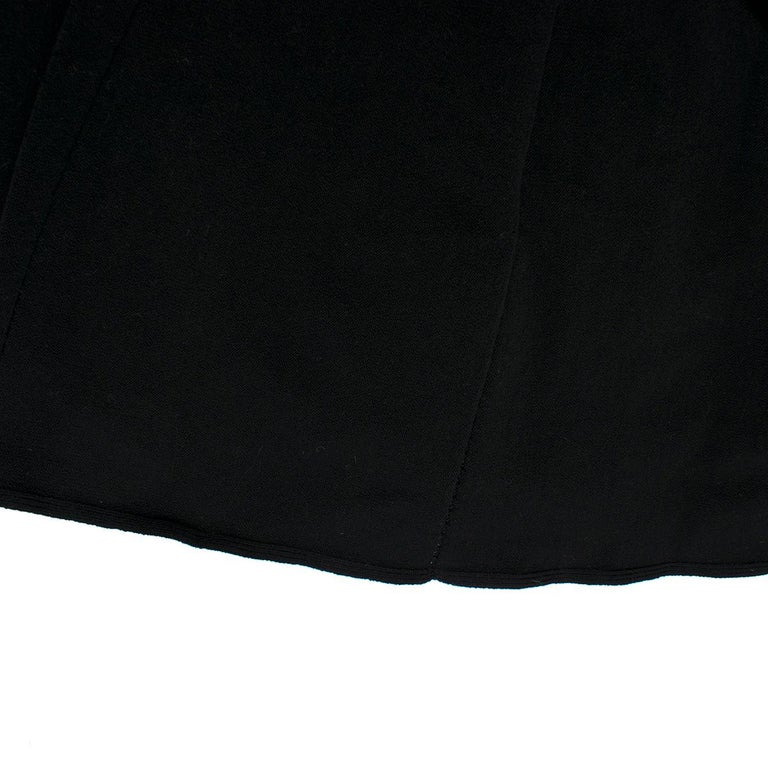 Alaia Black Maxi Fishtail Dress US 6 For Sale 3