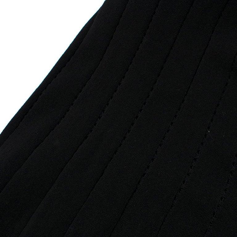 Alaia Black Maxi Fishtail Dress US 6 For Sale 4