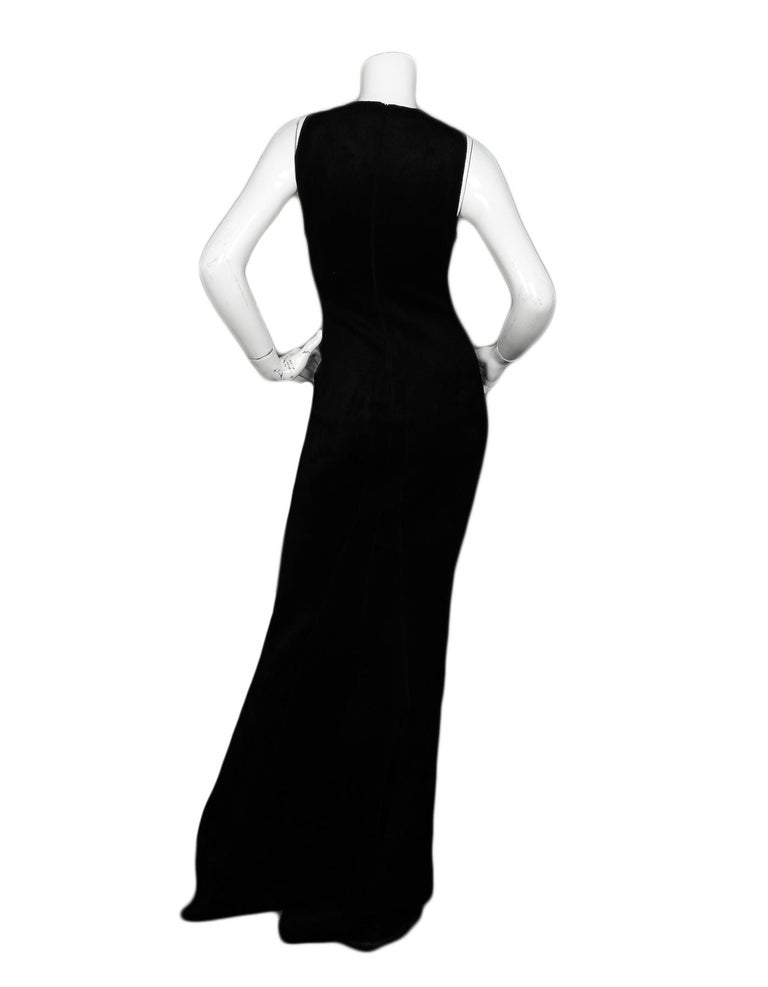 Alaia Black Sleeveless Velvet Gown sz FR38 In Excellent Condition For Sale In New York, NY