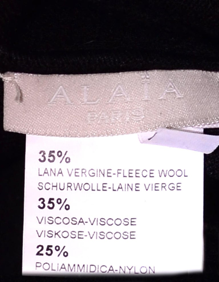 Women's Alaia Black Sleeveless Velvet Gown sz FR38 For Sale