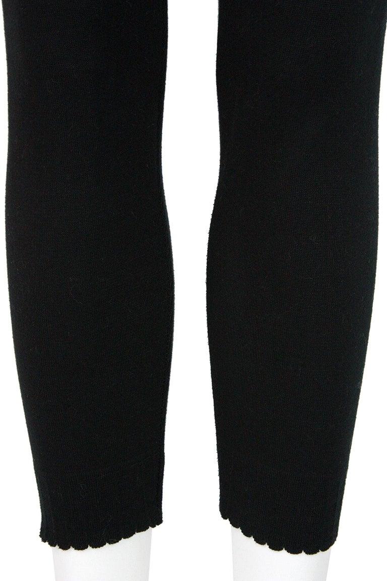 Women's Alaïa Black Stretchy Knit Leggings For Sale
