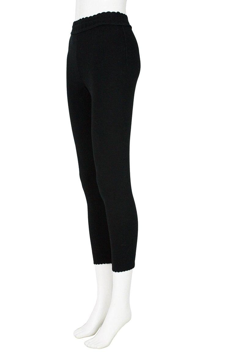 Alaïa Black Stretchy Knit Leggings For Sale 1