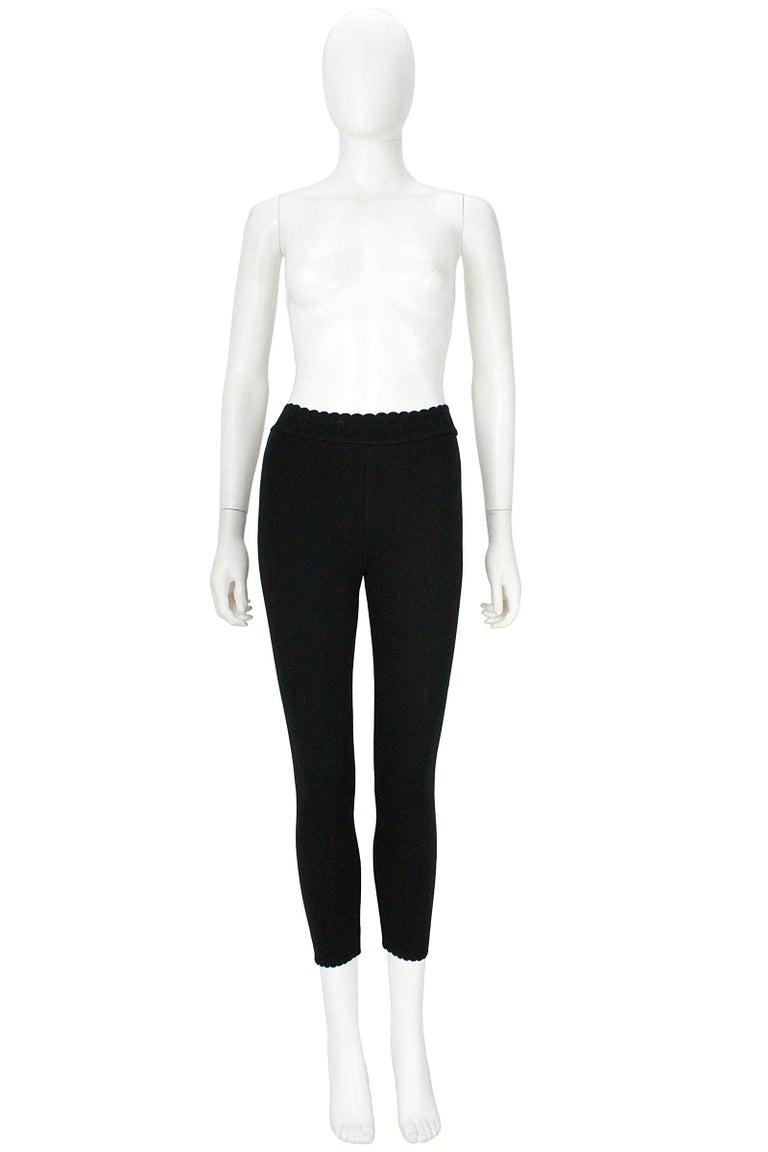 Alaïa Black Stretchy Knit Leggings For Sale 2