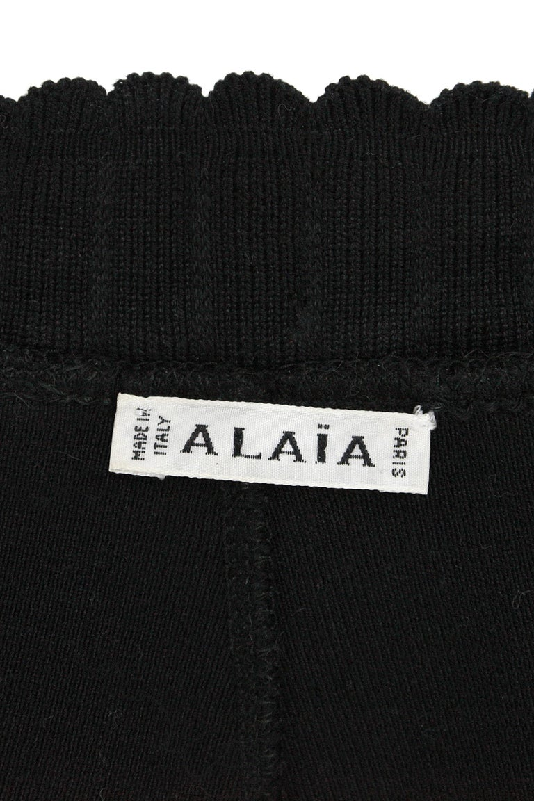 Alaïa Black Stretchy Knit Leggings For Sale 3