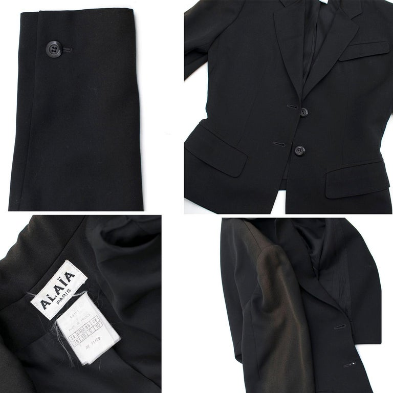 Alaia Black Suit US 4 For Sale 6