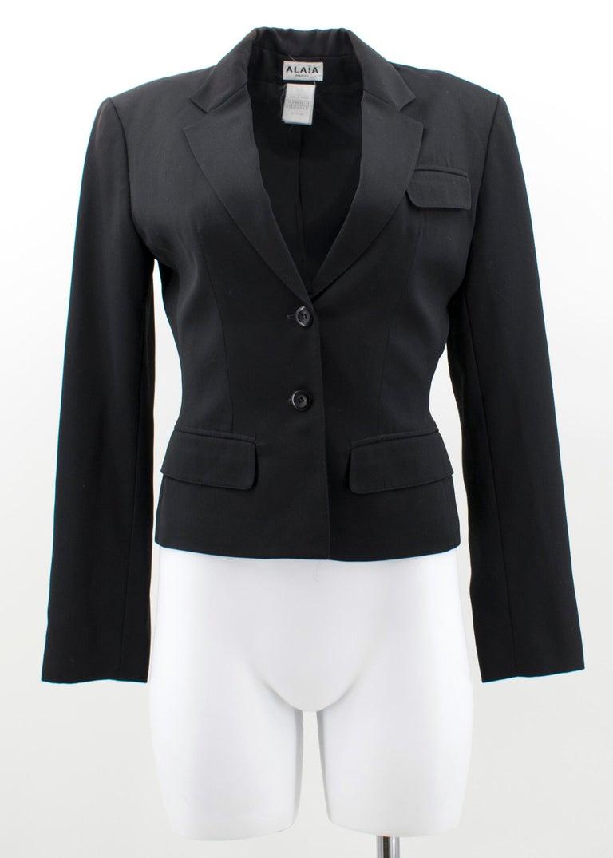 Alaia Black Suit US 4 For Sale 2