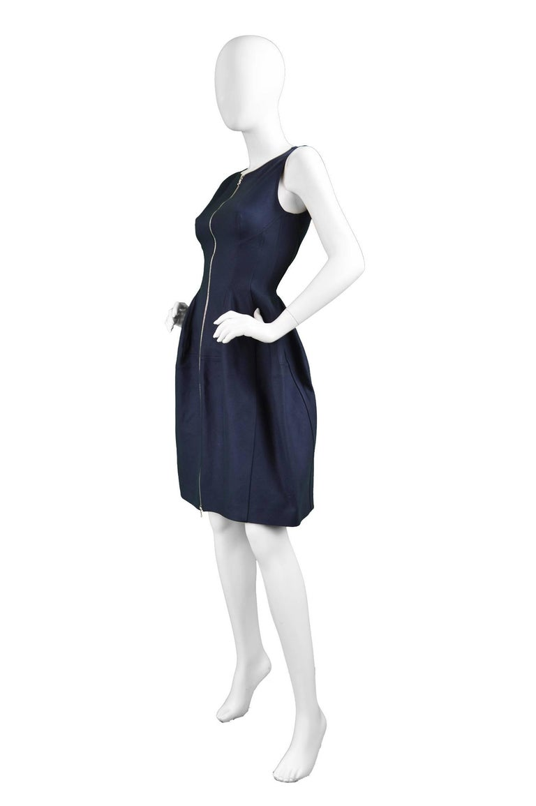 Alaia Blue Sculptural Cotton Dress 2