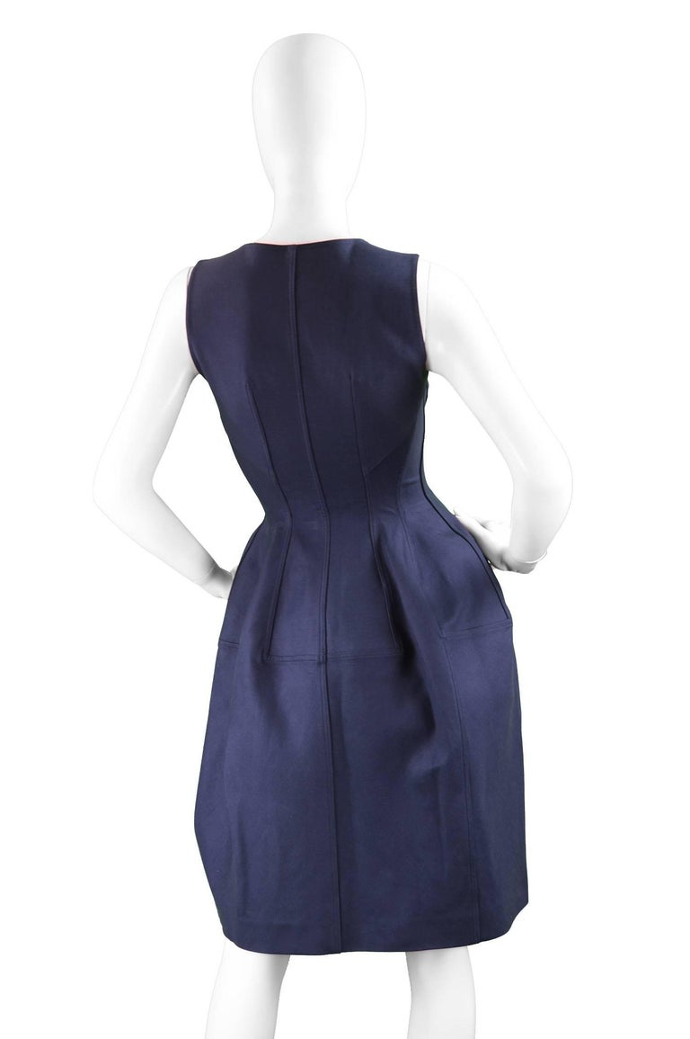 Alaia Blue Sculptural Cotton Dress 3