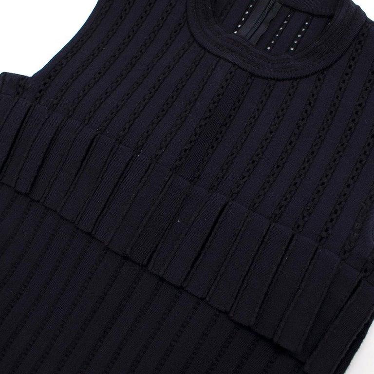 Alaia Blue Sleeveless Wool Knit Dress XS  For Sale 6