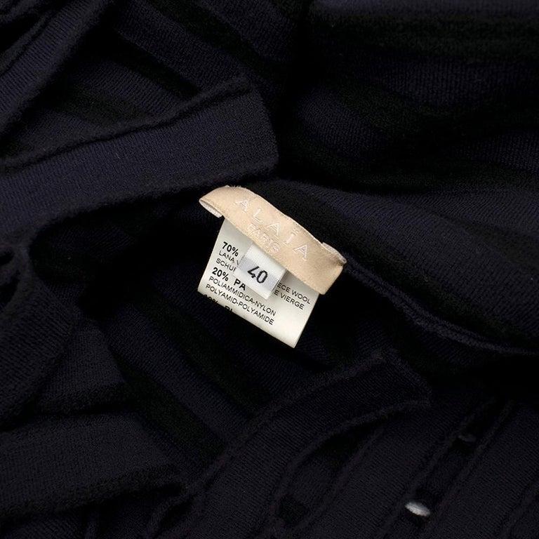 Alaia Blue Sleeveless Wool Knit Dress XS  For Sale 3