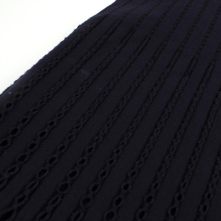 Alaia Blue Sleeveless Wool Knit Dress XS  For Sale 4