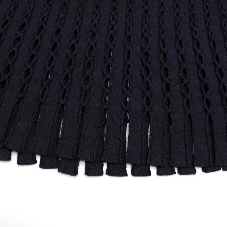 Alaia Blue Sleeveless Wool Knit Dress XS  For Sale 5