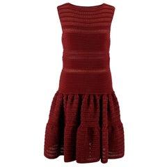 Alaia Burgundy Knit Dress - Size Medium