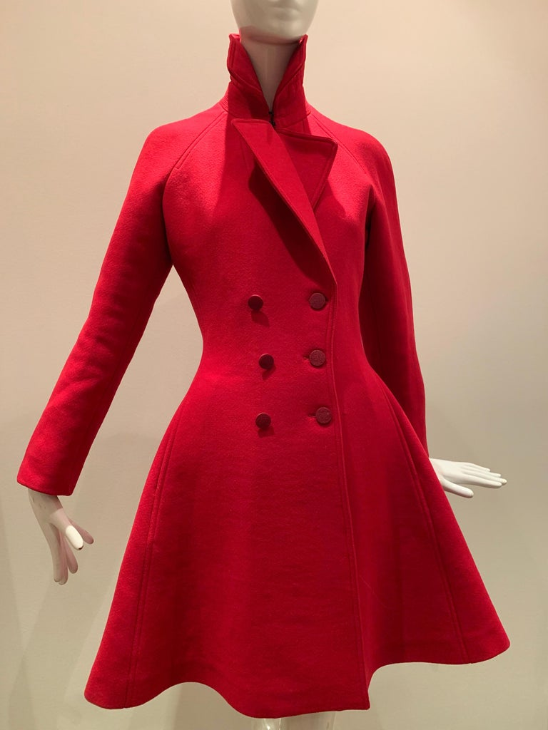A beautiful contemporary Alaia boiled-wool fit and flare