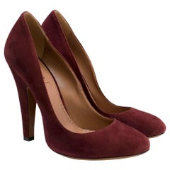 Alaia Cherry Red Suede Pumps size 39