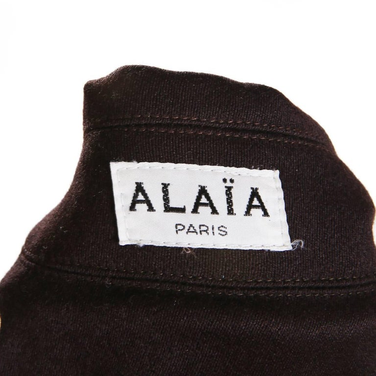 Alaia Double Breasted Oversized Wool Coat In Excellent Condition For Sale In Los Angeles, CA