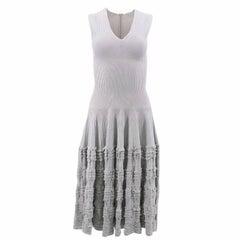 Alaia Grey Frilled Dress  US 6