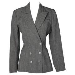 Alaïa grey woollen jacket