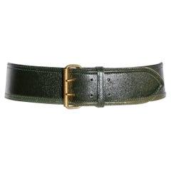 Alaia Leather Belt Circa 1980's