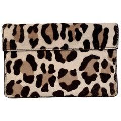 Alaia Leopard Animalier Pony Hair Clutch Bag Handbag