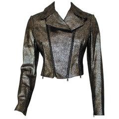 Alaia Metallic Suede Moto jacket