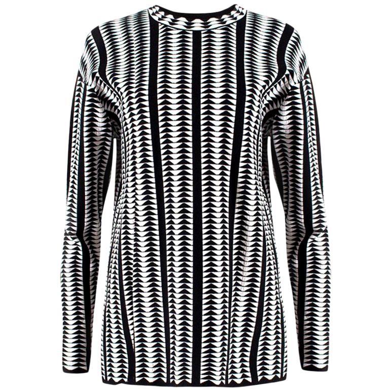 Alaia Monochrome Geometric Sweatshirt - Size US 8