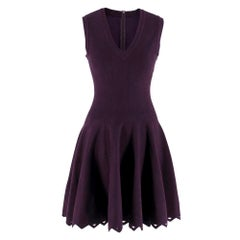 Alaia Mulberry Sleeveless Knit Fit & Flare Dress fr 36