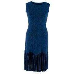 Alaia Navy Jacquard Sleeveless Dress - Size US 0-2