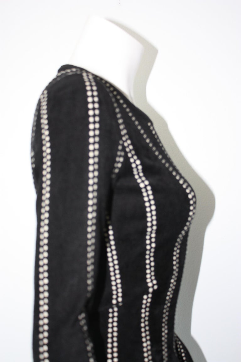 Alaia Black and White Peplum Top Tags attached  For Sale 5