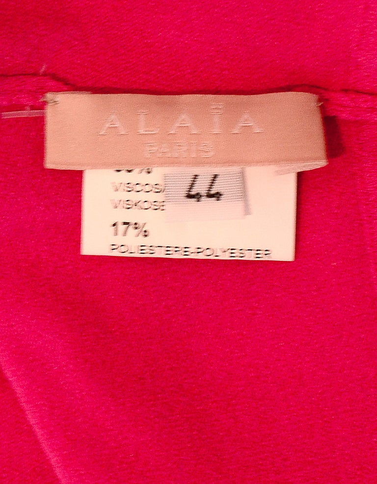 Women's Alaia Pink Button Up Cropped Sweater sz FR44 For Sale