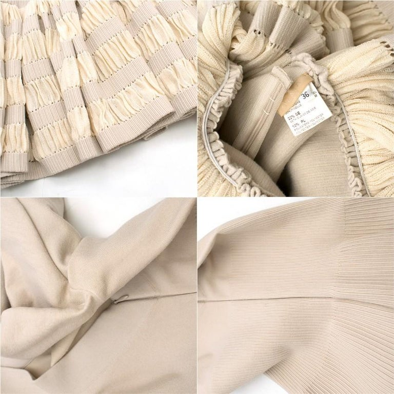 Alaia Ruffle Skirt Wool blend Knit Dress XS 36R 1