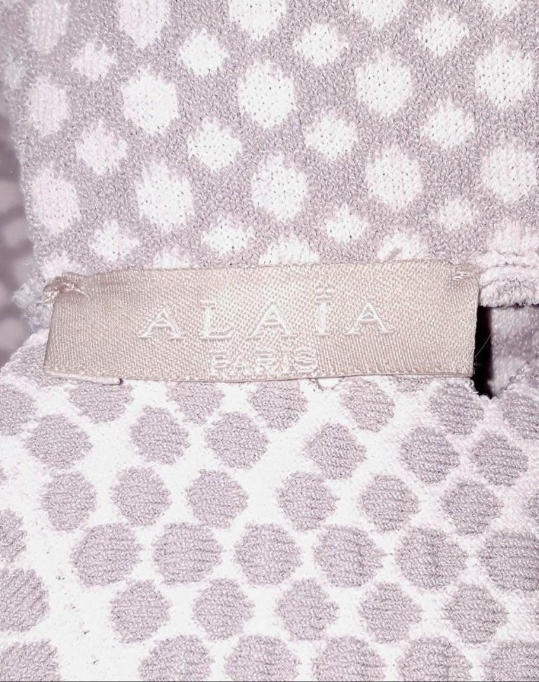 Women's Alaia Serpentine Nude Double Tier Sleeveless Dress  For Sale