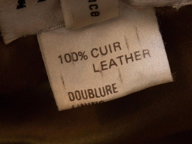 Women's Alaia Tan Suede Double-Breasted Jacket For Sale