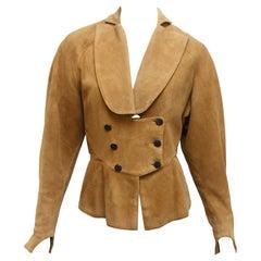 Alaia Tan Suede Jacket